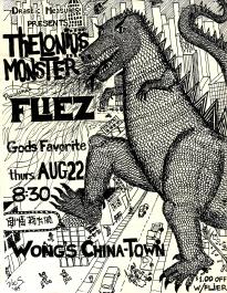 Flyer_TheloniousMonster_WongsChinatown19850822